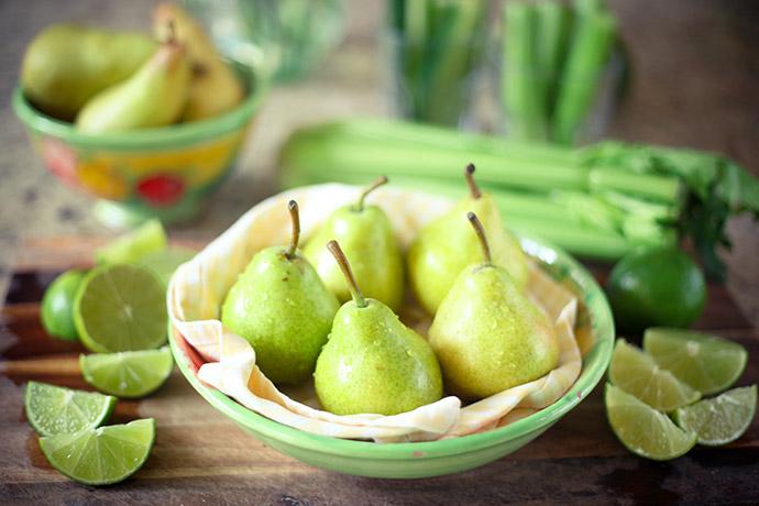 Зеленые груши на диете