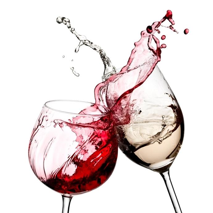 Рисунок бокал с красным вином