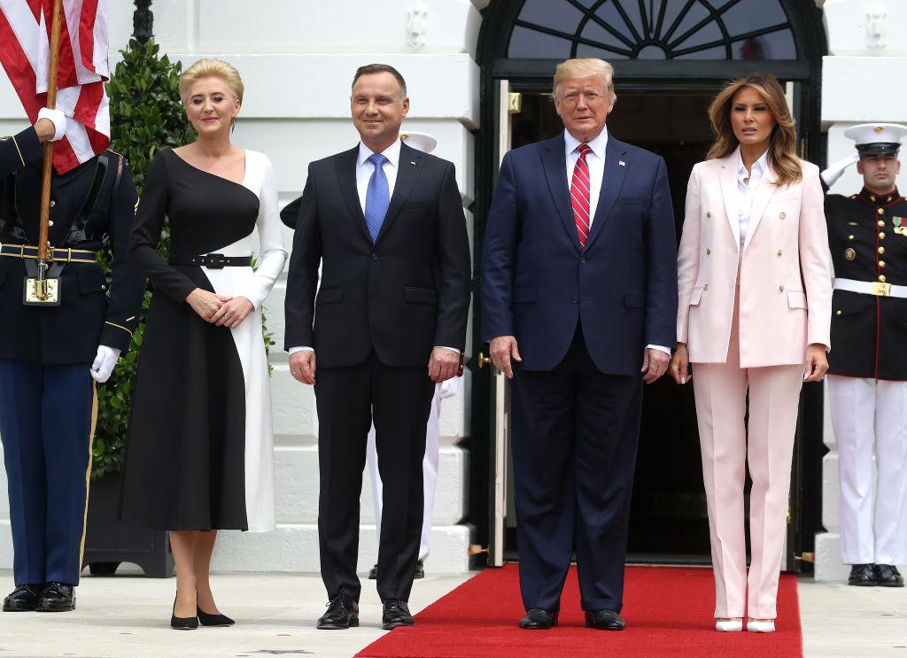 Мелания и Дональд Трамп в Белом доме 1