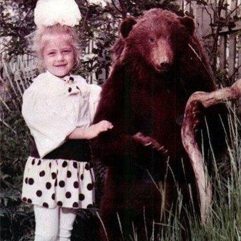 Тіна Кароль з ведмедем