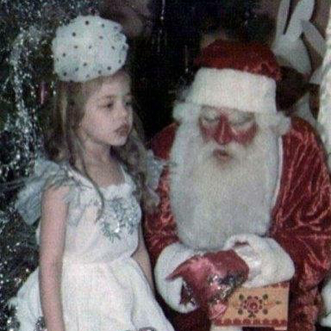 Тіна Кароль з Дідом Морозом