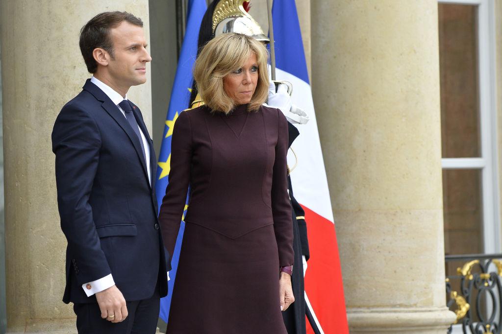 Жена президента франции 2018 сколько лет