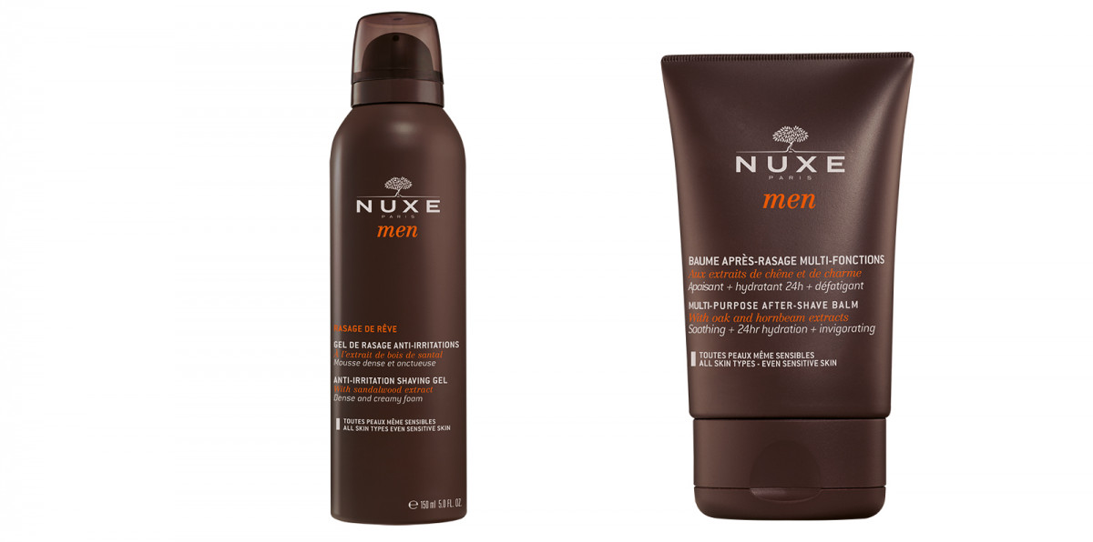 Anti-irritation Shaving Gel & Multi-purpose After-shave Balm, Nuxe
