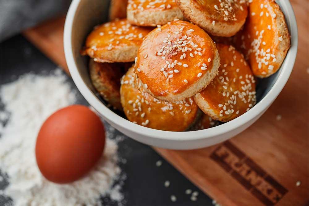 песочное печенье с кунжутом рецепт