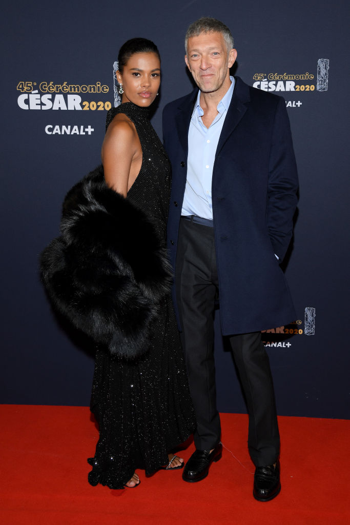 Tina Kunakey Cassel and Vincent Cassel 2020